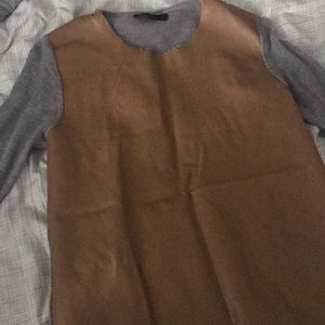 Leather front top